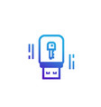 usb stick security key icon vector image