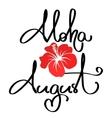Handmade calligraphy and text aloha summer vector image