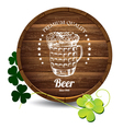 Barrel of beer vector image