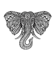 Ethnic ornamented elephant vector image
