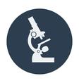 Single flat microscope icon vector image