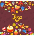 decorating design made of toys vector image