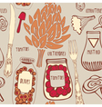 Food seamless doodles pattern vector image