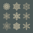 Snow flakes set 2 vector | Price: 1 Credit (USD $1)