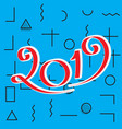 2019 new year design vector image vector image