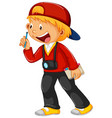 a cute boy character vector image