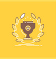award cup prize reward victory flat line filled vector image vector image