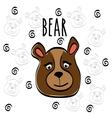 Bear cartoon design vector image vector image