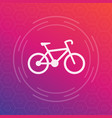 bicycle icon cycling symbol vector image vector image