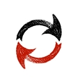 Black and red grunge arrows vector image vector image