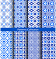 blue floral backgrounds flower patterns vector image vector image
