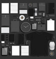 branding mockup black set vector image