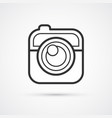camera flat line trendy black icon eps10 vector image vector image