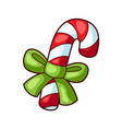 candy with ribbon sweet merry vector image