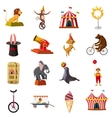 Circus symbols icons set cartoon style vector image vector image
