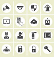 crime world symbols set vector image vector image
