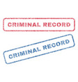 criminal record textile stamps vector image vector image