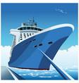 cruise ship at pier vector image vector image