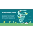 Dangerous Wind Flat Design Banner vector image