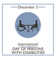 Day of Persons with Disabilities vector image vector image