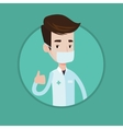 Doctor giving thumbs up vector image vector image