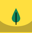 flat icon design collection tree leaf vector image vector image