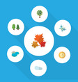flat icon natural set of canadian solar monarch vector image vector image
