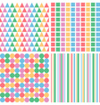 four abstract pastel colors seamless simple vector image vector image