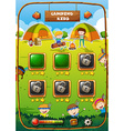 Game template with camping theme vector image vector image