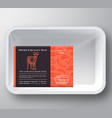 goat abstract plastic tray container cover vector image vector image