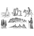 greek culture set national symbols sailboat vector image vector image