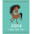 greeting card with a horse vector image vector image