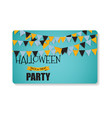 halloween party background template business card vector image