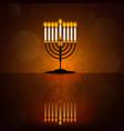 hanukkah poster with menorah vector image