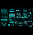 hud virtual futuristic elements set green object vector image vector image