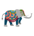 indian elephant cartoon vector image