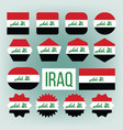 iraq flag set official nepal iraq flat vector image vector image