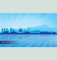 islamabad city skyline silhouette background vector image vector image