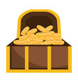 isolated treasure chest design vector image