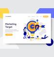 landing page template marketing target vector image