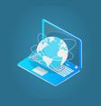 laptop with world wide web emblem 3d model