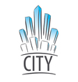 logo city in the form of crystals vector image vector image