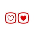 love icon button vector image vector image