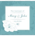 Marriage design template with custom names in vector image vector image