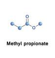 methyl propionate c4h8o2 vector image vector image