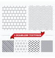 Mosaics square tiles seamless pattern vector image vector image