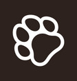 paw print icon vector image vector image