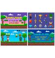pixel art game in 8 bit character life scenery vector image vector image