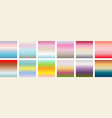 set of gradients of pastel vector image vector image