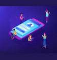 sign in page isometric 3d concept vector image